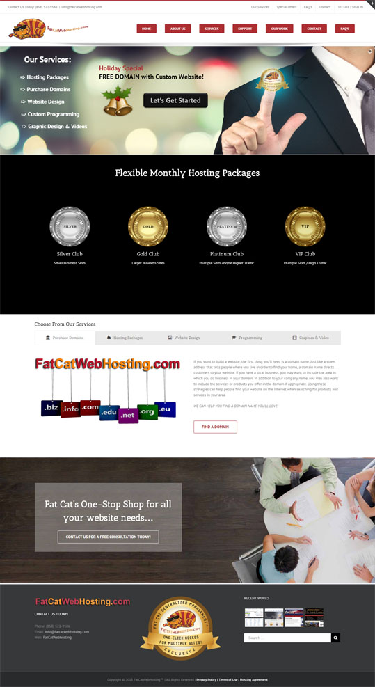 Fat Cat Webhosting Full